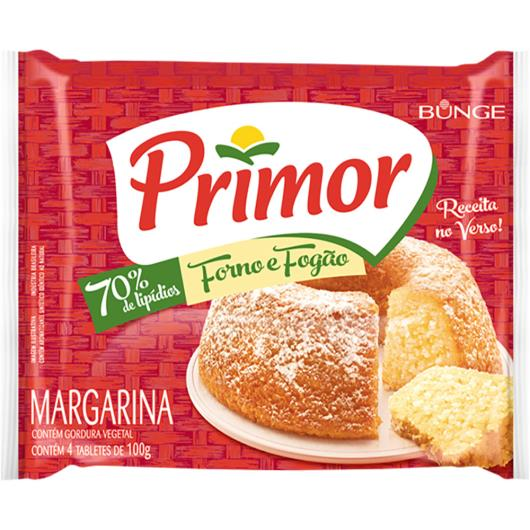 Margarina com Sal Primor Forno e Fogão Pacote 400g 4 Unidades - Imagem em destaque