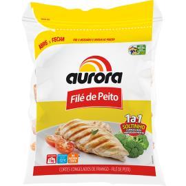 Cortes Congelados de Frango Aurora Filé de Peito 1kg