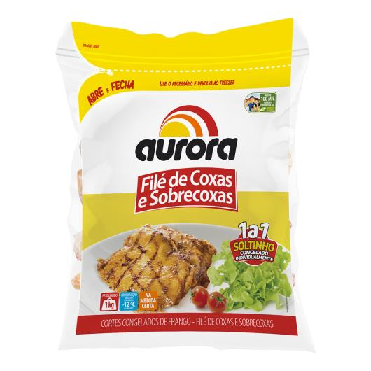 Corte Frango Aurora Coxa e Sobrecoxa sem Osso Congelado 1Kl - Imagem em destaque