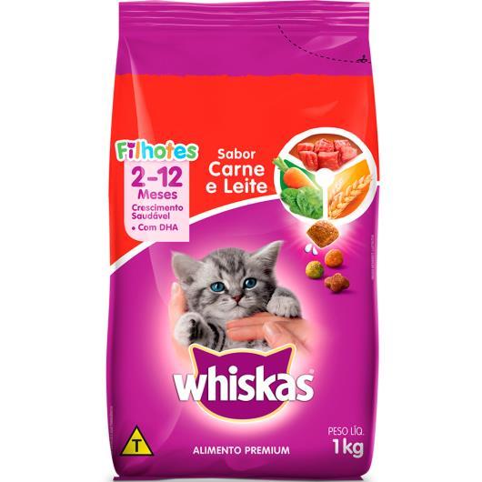 Ração para filhote carne e leite Whiskas 1kg - Imagem em destaque