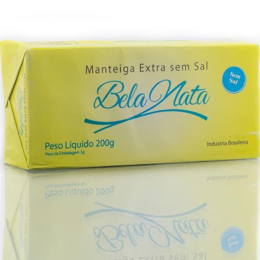 Manteiga Bela Nata extra sem sal tablete 200g - Imagem em destaque