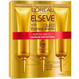Ampola de nutrição Elseve instantânea óleo extraordinário 3 unidades 45ml