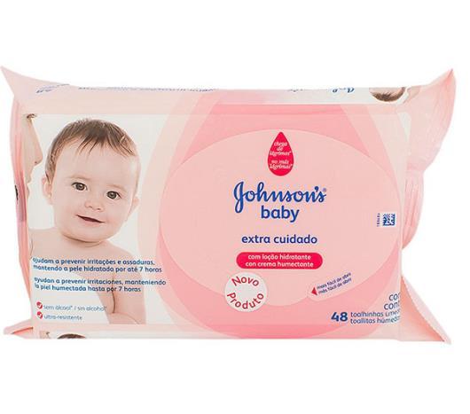 Toalha umedecida Johnson's Baby Extra Cuidado 48 unidades - Imagem em destaque