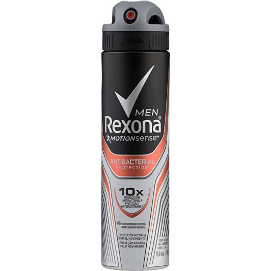 Desodorante Antitranspirante Rexona Men Aerossol ANTIBACTERIAL PROTECTION 150ml - Imagem em destaque
