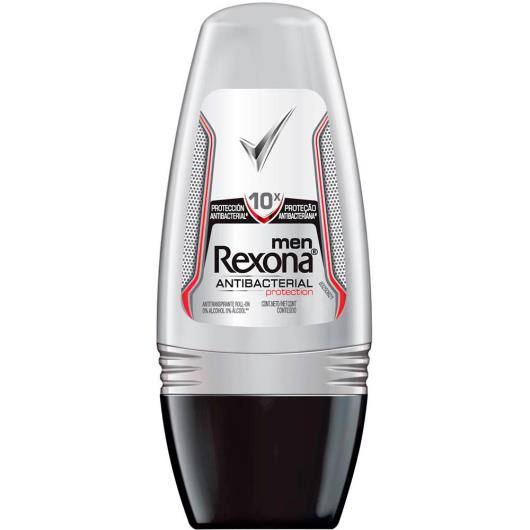 Desodorante Antitranspirante Rexona men Rollon ANTIBACTERIAL PROTECTION 50ml - Imagem em destaque