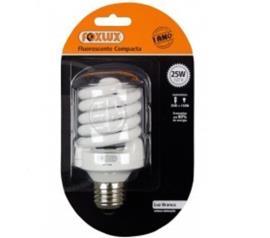 lampada foxlux fluorescente espiral Branca 20W127V