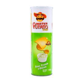 Batata Mister Potato Crisps sour cream & onion 160g