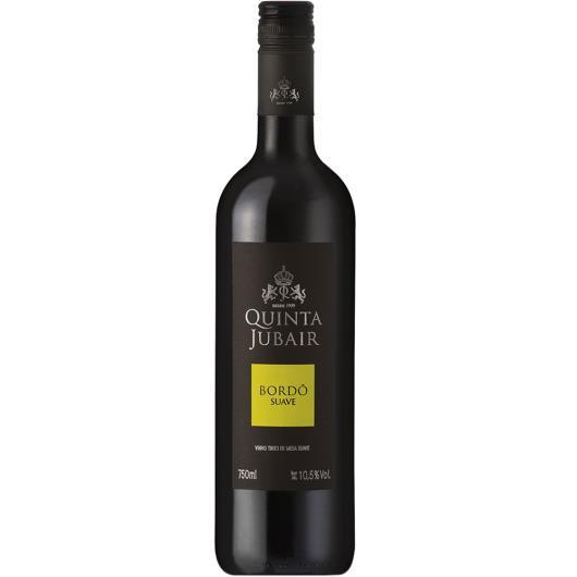 Vinho Quinta Jubair Bordô tinto suave 750ml - Imagem em destaque