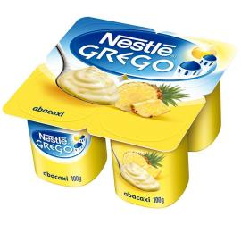 Iogurte Nestlé Grego integral com abacaxi 400g