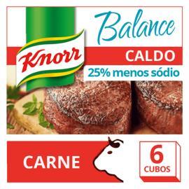 Caldo Knorr carne balance 6 cubos 57g