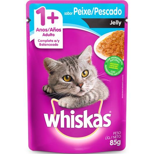 Alimento para gatos Whiskas Jelly sabor peixe 1+ANOS 85g - Imagem em destaque