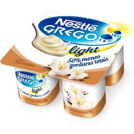 Iogurte Nestlé Grego Light sabor Baunilha Pote 360g