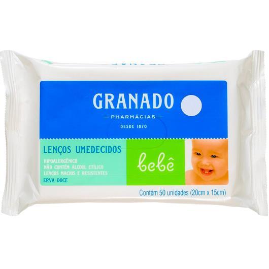 Lenço Umedecido Granado Bebê Erva Doce 50 unidades - Imagem em destaque