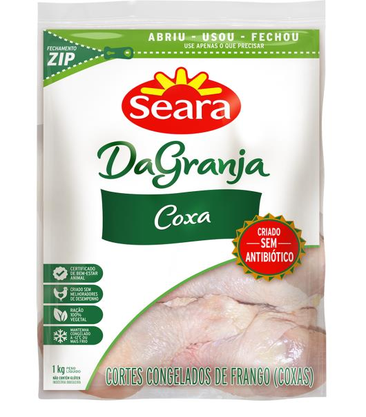 Corte Frango Coxas da Granja Seara 1kg - Imagem em destaque