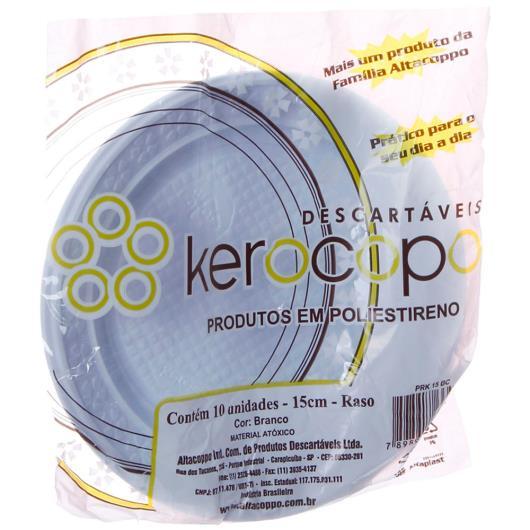 Prato Kerocopo Descartável 15cm Raso com 10 unidades - Imagem em destaque