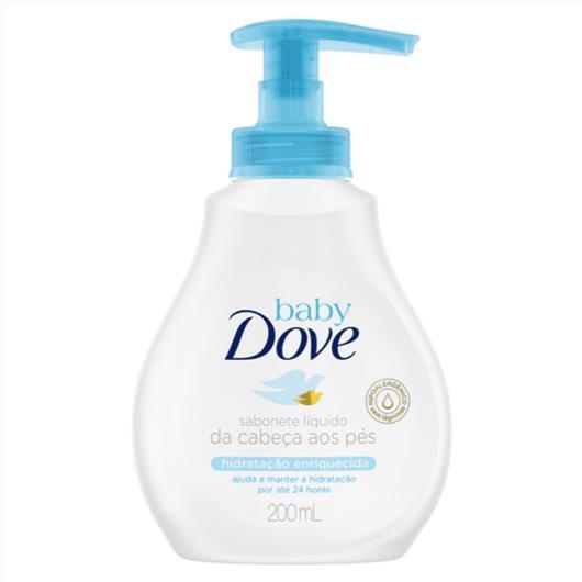 Sabonete Dove Baby hidratação enriquecida líquido 200ml - Imagem em destaque