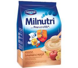 Cereal Milnutri infantil arroz,banana e maçã sachê 180g