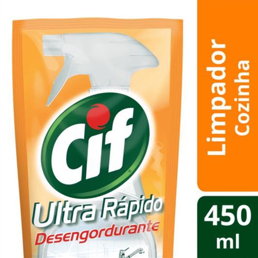 Refil Cif limpador Ultra rápido desengordurante 450ml - Imagem em destaque