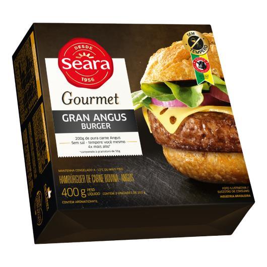 Hambúrguer Seara Bovino Gourmet Angus 400G - Imagem em destaque