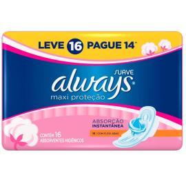 Absorvente Always Pink.medio suave com abas Leve 16 Pague  14