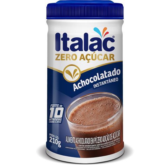 Achocolatado em Pó Italac Zero Açúcar 210g - Imagem em destaque