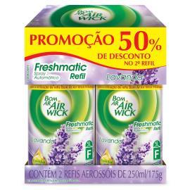 Odorizador Bom Ar Air Wick Freshmatic Lavanda 50% Desconto REFIL com 2 unidades 175g
