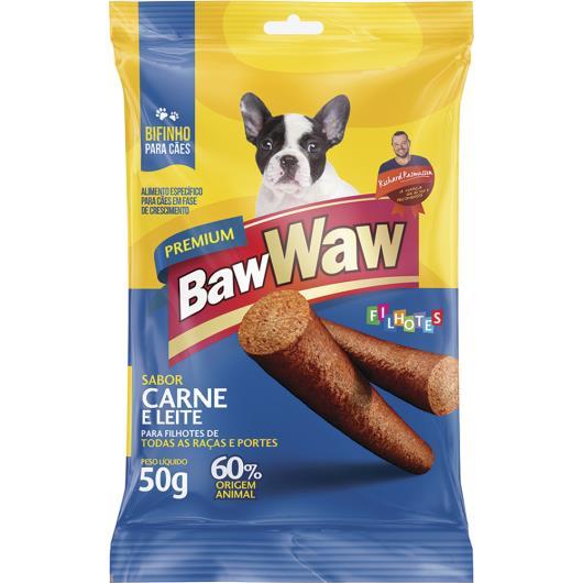 Bifinho Baw Waw carne com leite filhotes 50g - Imagem em destaque