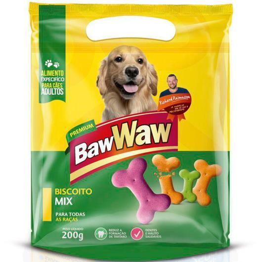 Petisco para cães Baw Waw biscoito mix 200g - Imagem em destaque