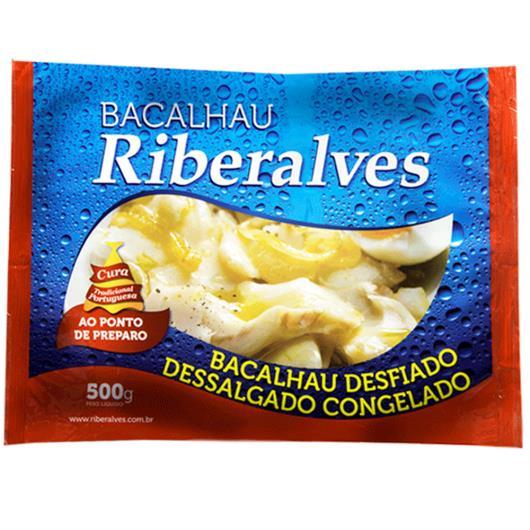 Bacalhau Riberalves desfiado dessalgado congelado 500g - Imagem em destaque