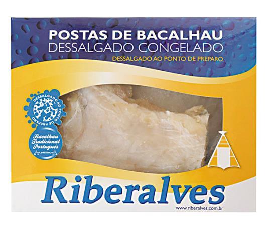 Postas de bacalhau  Riberalves dessalgado congelado 800g - Imagem em destaque