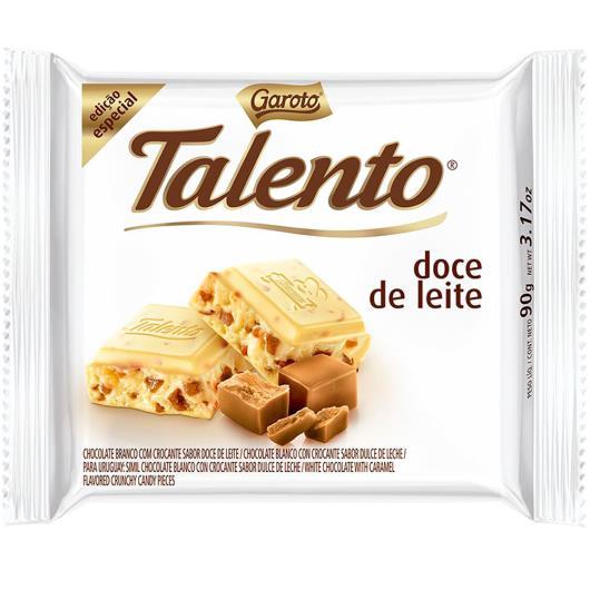Chocolate Garoto talento doce de leite 90g - Imagem em destaque