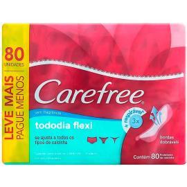 Protetor diário Carefree todo dia flexi sem perfume leve 80 pague 60 unidades