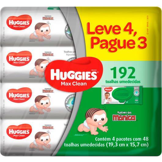Lenços Umedecidos Huggies Max Clean Leve 4 Pague 3 - 192 unidades - Imagem em destaque