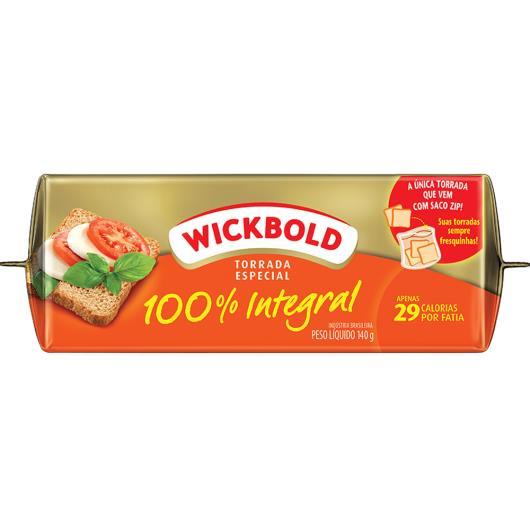 Torrada Wickbold Especial 100% Integral 140g - Imagem em destaque