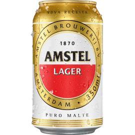 Cerveja Amstel Lager puro malte lata 350ml