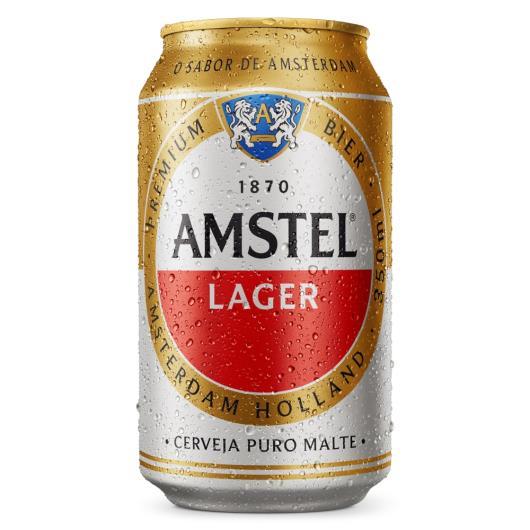 Cerveja Amstel Lager puro malte lata 350ml - Imagem em destaque