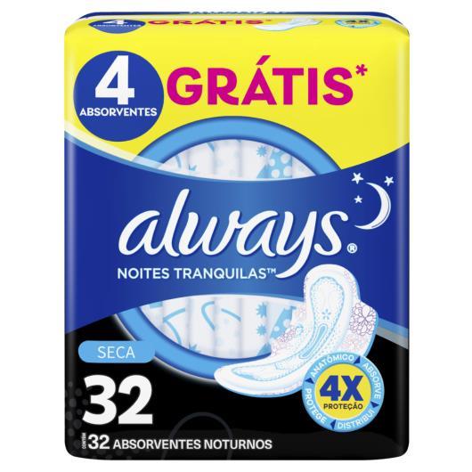 Absorvente Always Noites Tranquilas Seca com abas 32 Unidades - Imagem em destaque