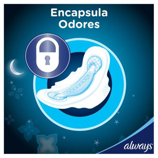 Absorvente Always Noites Tranquilas Seca com abas Leve Mais Pague menos - 32 Unidades - Imagem em destaque