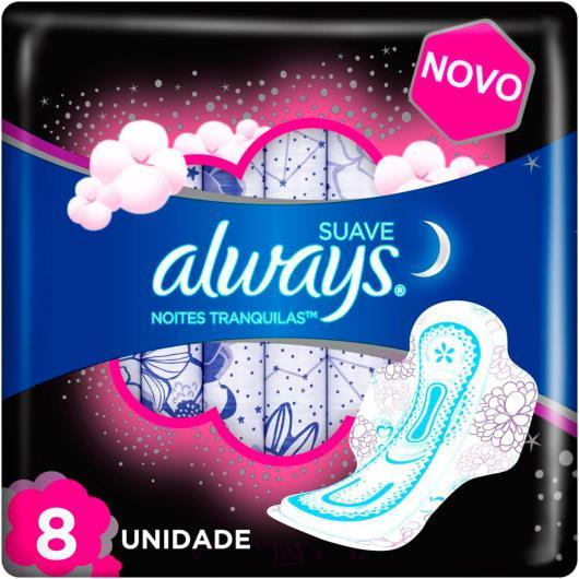 Absorvente Always Noites Tranquilas Suave com abas 8 Unidades - Imagem em destaque