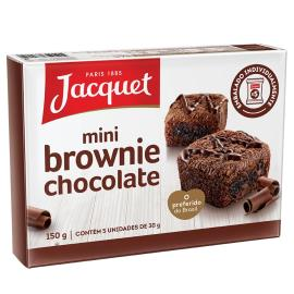 Bolo jacquet mini brownie pedaços de chocolate 150g