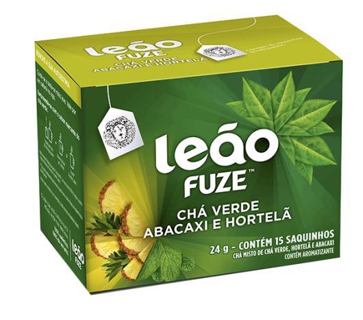 Cha Leão Fuze verde abacaxi e hortelã 24g - Imagem em destaque