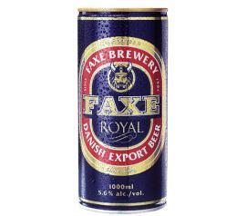 Cerveja Faxe Royal Export lata 1L
