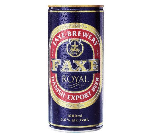 Cerveja Faxe Royal Export lata 1L - Imagem em destaque