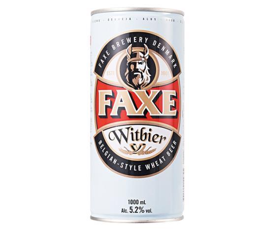 Cerveja Faxe Witbier lata 1L - Imagem em destaque