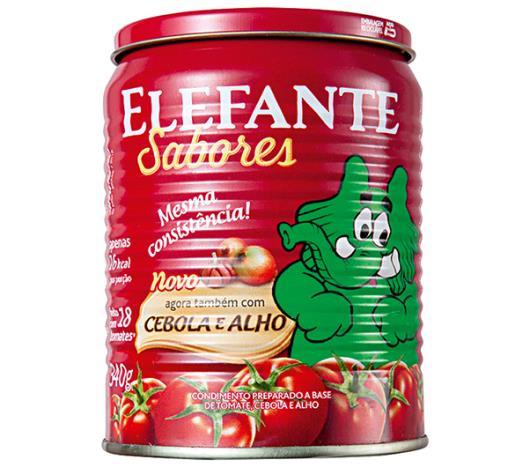 Extrato Tomate Elefante cebola e alho lata 340g - Imagem em destaque