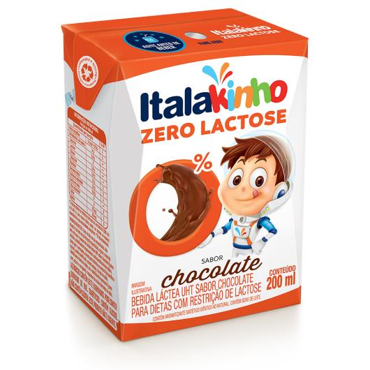 Bebida láctea Italakinho sabor chocolate zero lactose 200 ml - Imagem em destaque