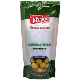 Azeitona verde Raiola Descaroçada sachê 150g