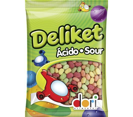 Bala Deliket Frutas Acidas 180g - Imagem em destaque