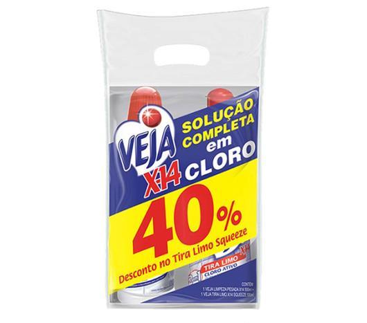 2 Limpadores Veja X14 40%Desconto Tira Limo Sqeeze 1L - Imagem em destaque