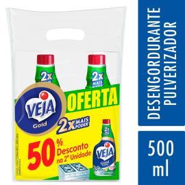 2 Limpadores Veja Cozinha Limão 50% de Desconto na 2º Unidade Refil 500ml
